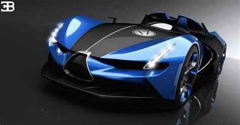 bugatti concept car futuristic bugatti roadster comes to carscoops