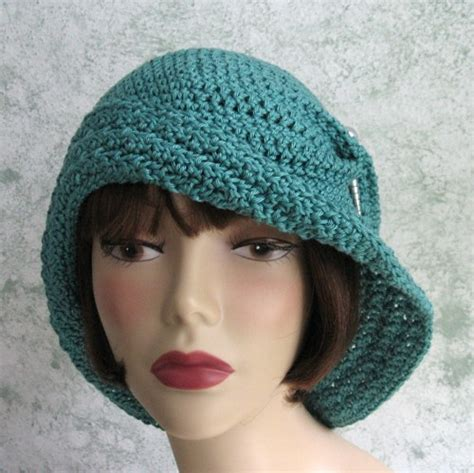 womens crochet hat pattern flapper style with large brim