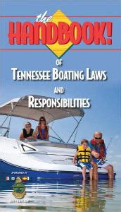 boating license booklet the handbook of tennessee boating laws and