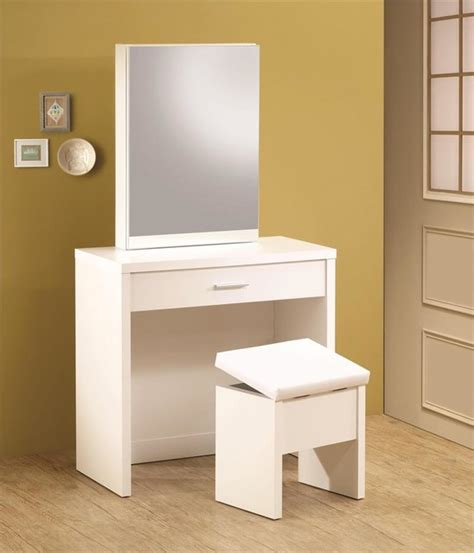 White Vanity Desk Modern Bedroom Products Orange Modern Vanity Desk