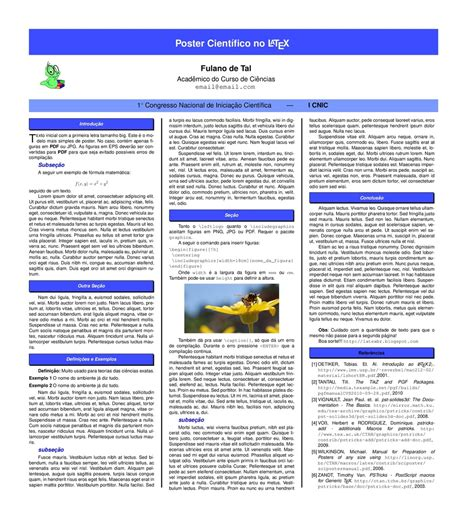 layout para poster cientifico latex br posters cient 237 ficos no latex