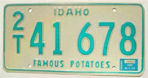 idaho boat license 1970 idaho boat license plate 6 338