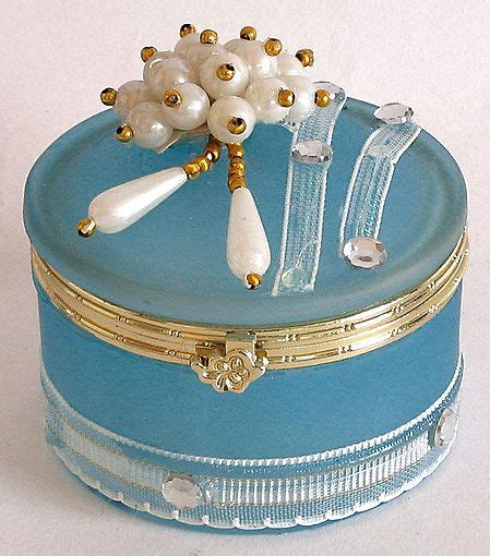 light blue jewelry box light blue circular jewelry box decorated with and