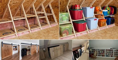 Solutions For Amazing Ideas by Clever Storage Ideas For Your Attic Home Design Garden