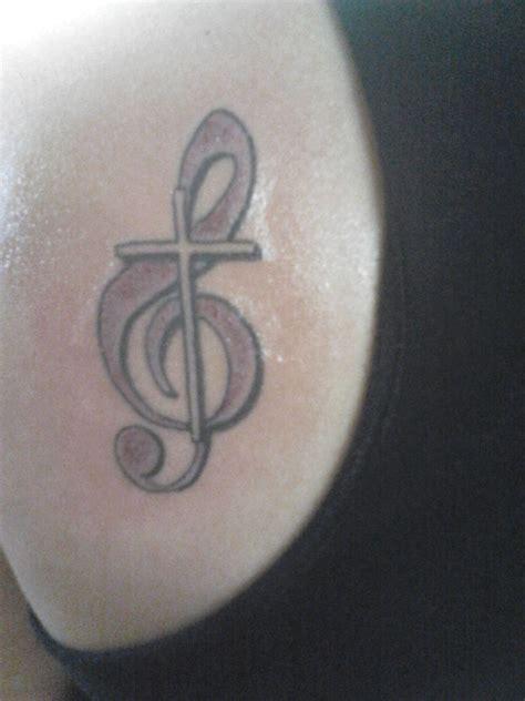 treble clef cross tattoo treble clef cross tattoos