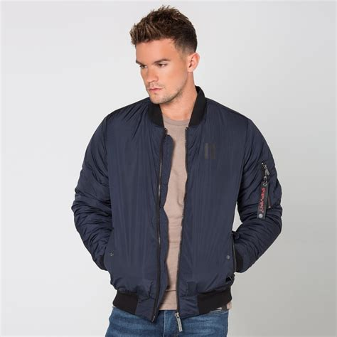 Jaket Boomber Navy 5 explore bomber jacket navy 11 degrees from eleven degrees uk