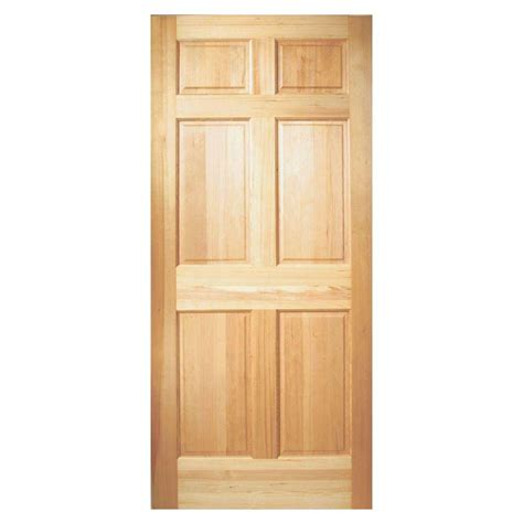 Steves And Sons Interior Doors Steves And Sons 36 In X 80 In 6 Panel Unfinished Fir Wood Front Door Slab Fir6px3680 The