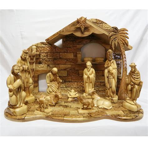 olive wood christmas nativity set wooden nativity scene