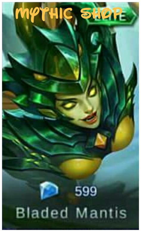 karie mobile legend jual bladed mantis elite skin karie dari mythic shop