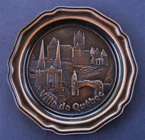 bar coasters ville de quebec souvenir metal bar coasters set of 6