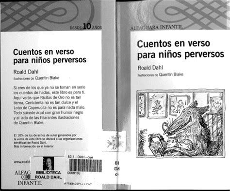 cuentos en verso para cuentos en verso para ni 241 os perversos