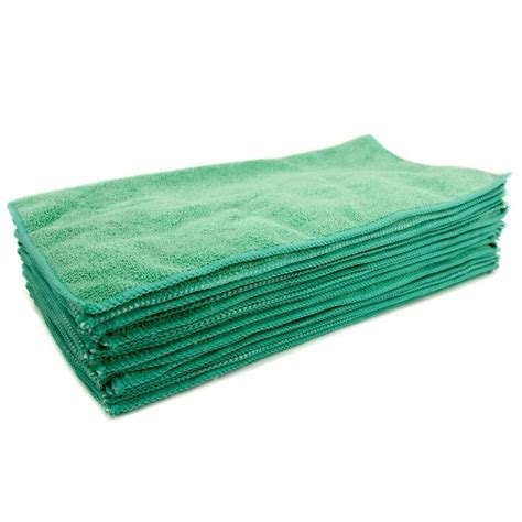 zwipes 16 in x 16 in green microfiber cleaning towel 48