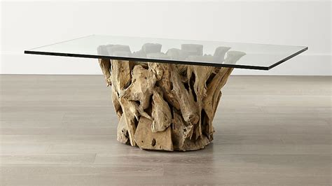 drift wood coffee table driftwood coffee table crate and barrel