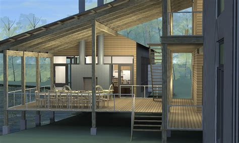 porch house texas architecture firm designs prefab leed certified