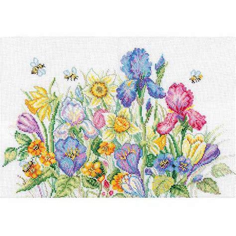 Gardens Inc 3 Flower Patterns Rto Garden Flowers Counted Cross Stitch Kit 13 3 4 Quot X 9 3