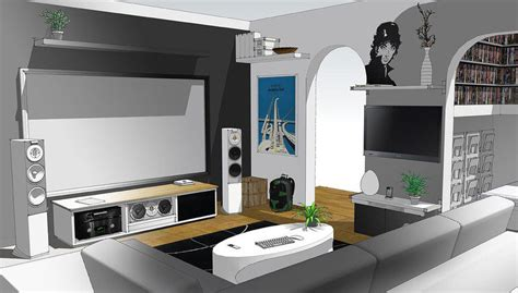 a modern home entertainment setup 2012 interior design