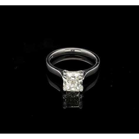 Platinum Square 2 square cut platinum ring 2 04ct miltons jewellers