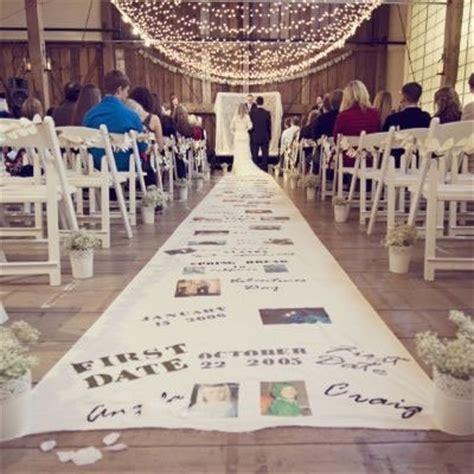 Wedding Aisle Of Memories by インスタで見つけたアイルランナーdiy バージンロードに二人の物語をデザインするのが流行中 マリー