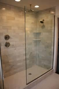 Alluring doorless walk in shower designs with snail shower bathroom