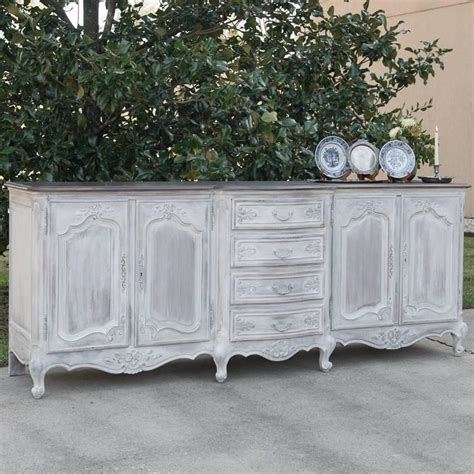 grand country french painted carved oak buffet for sale at