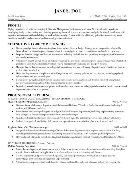 market controller business manager resume