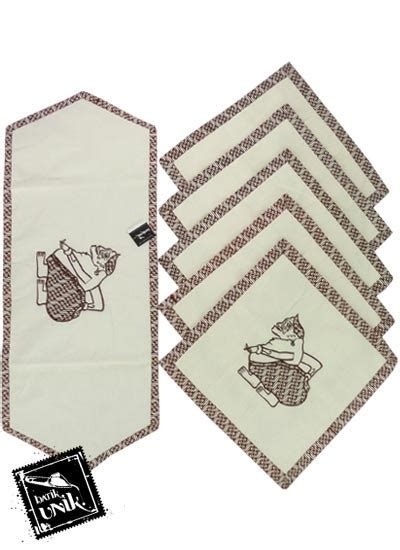 Sarung Bantal Set Unik sarung bantal kursi batik blaco motif semar bordir set