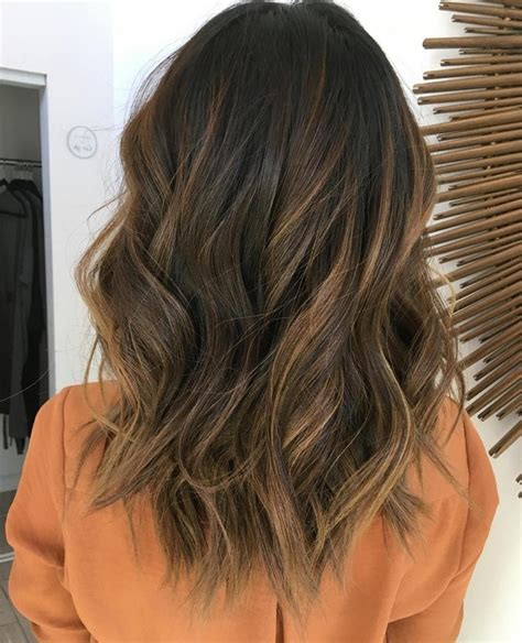 hairstyles women chocolate brown and caramel ends black straight hair with caramel highlights blonde and