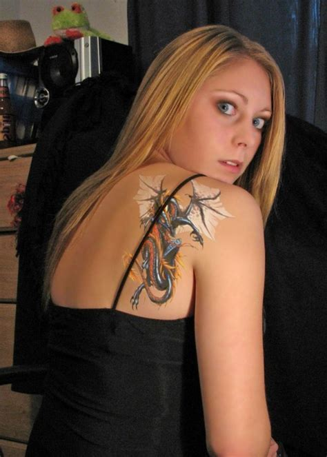 girl tribal arm tattoos shoulder of tribal mythical