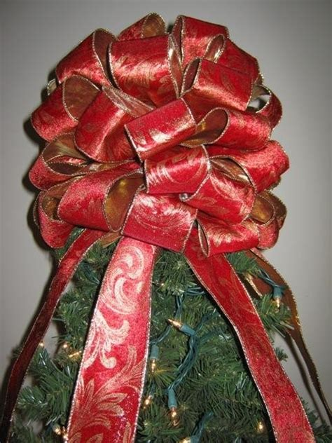 Handmade Tree Toppers - handmade tree topper bow large and gold