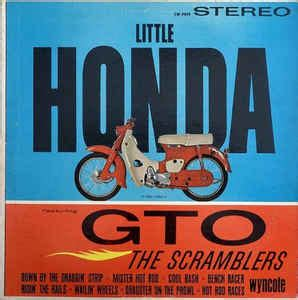 the scramblers little honda featuring gto (vinyl, lp