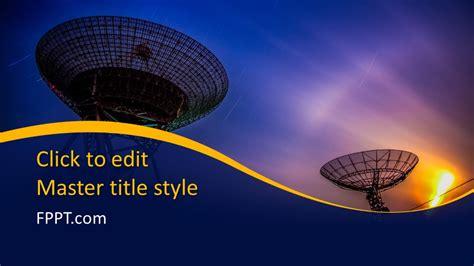 Free Satellite Communication Powerpoint Template Free Satellite Ppt Template Free