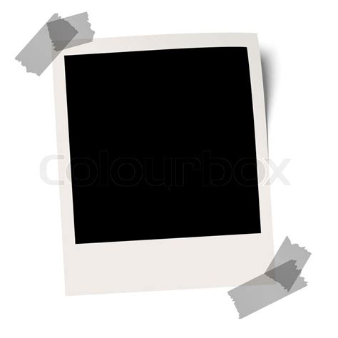 Blank polaroid with adhesive tape   Stock Vector   Colourbox