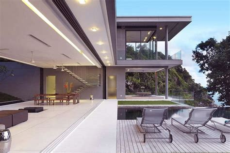 Modern Sun Deck Design Beside Swimming Pool Interior Architectural Design Vision