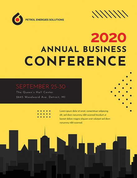 conference poster template   posters  psd illustrator apple pages