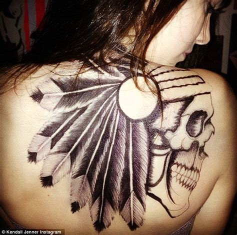 kendall tattoo neck kendall jenner shows off shocking back tattoo but it s