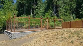garden fence kennel fence ajb landscaping fence