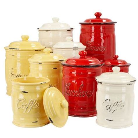 italian ceramic coffee canisters for the home