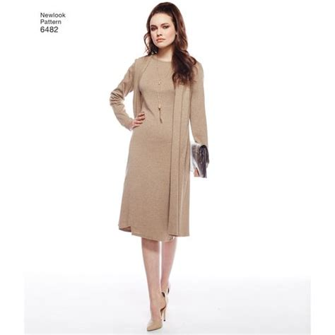 knitted dress new look new look pattern 6482 misses knit dress tunic and