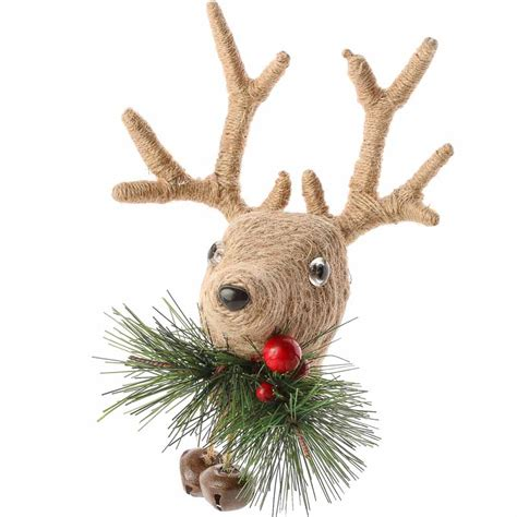 rustic jute reindeer ornament christmas and holiday