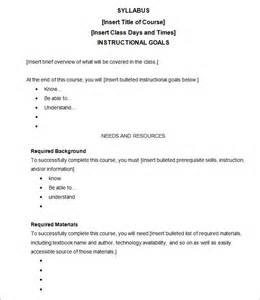 college syllabus template syllabus template free templates free premium templates