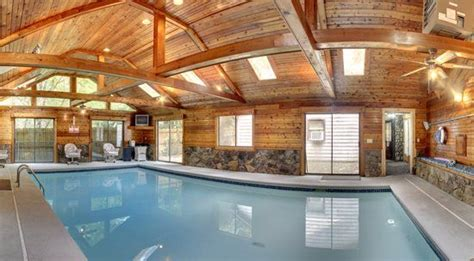 six bedroom cabin with an indoor pool our cabins