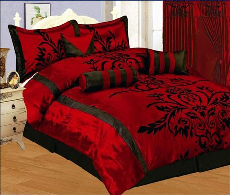 red bed in a bag new bed in a bag black burgundy red satin comforter set
