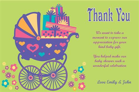Thank You Note Template Baby Gifts Thank You Card Template For Baby Gift Gift Ftempo