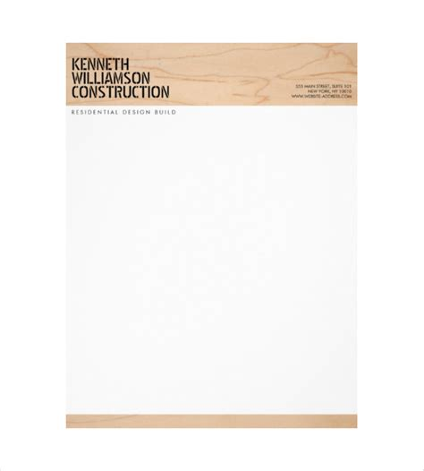 construction letterhead templates 10 construction company letterhead templates free