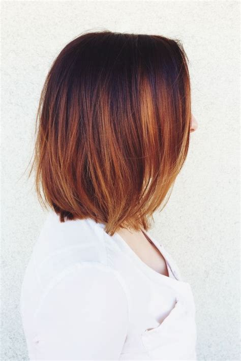 pictures of diangle bob with ombre color ombre copper bob bride google search hair pinterest