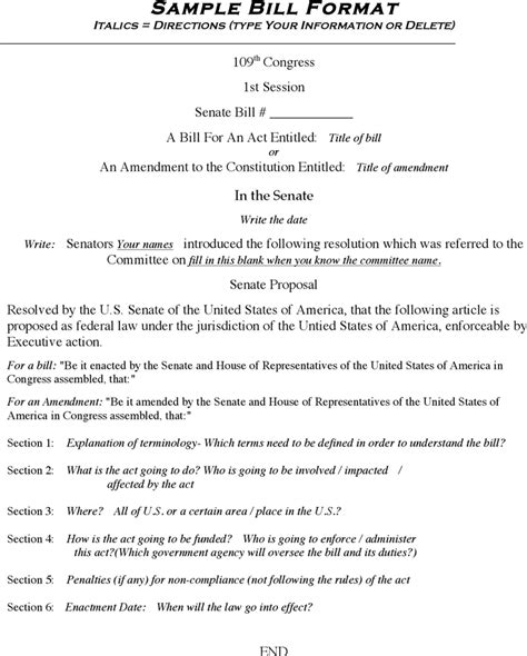 student congress resolution template bill format doc rabitah net