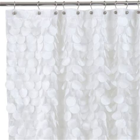 72x84 fabric shower curtain buy gigi 72 inch x 72 inch fabric shower curtain in white