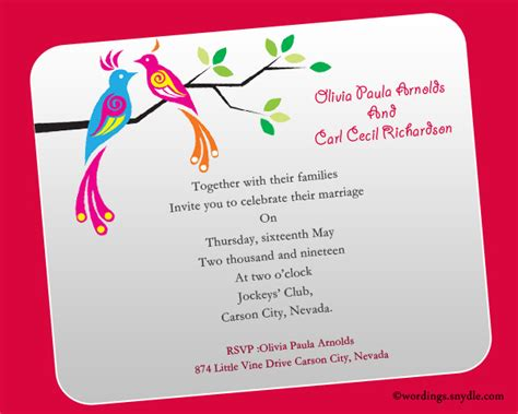my wedding invitation msg informal wedding invitation wording sles wordings and
