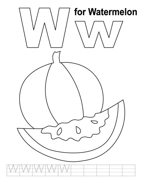 preschool watermelon coloring pages watermelon coloring page preschool coloring pages