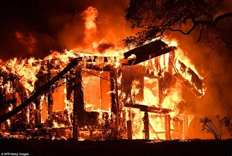 California Fires Drive From Homes To Hotels california wildfires torch homes in wine country daily